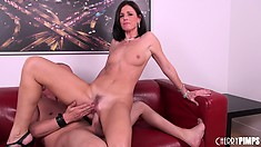 India Summer keeps her pussy wet by using a vibe on her clit