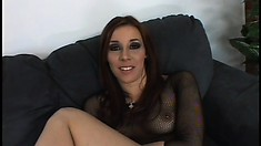 Freaky MILF Delilah Strong takes the business end of a big dick