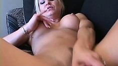 A couple of extremely horny tarts work each other with sex toys