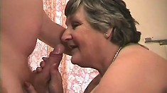 Lustful mature lady with big boobs gets her needy pussy fucked hard on the bed