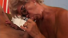 Really old granny manages to get lucky with a much younger stud