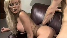 Lusty chick teases a dude with her toes before some rough loving