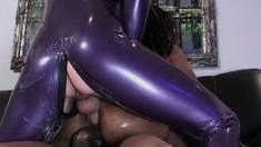 Ebony Lola Lane goes anal with a couple of freaky fetish kinks